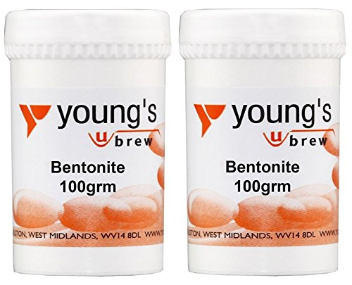 2 x Bentonite 100g Youngs Home Brewing Wine Making For Wine Cleaning