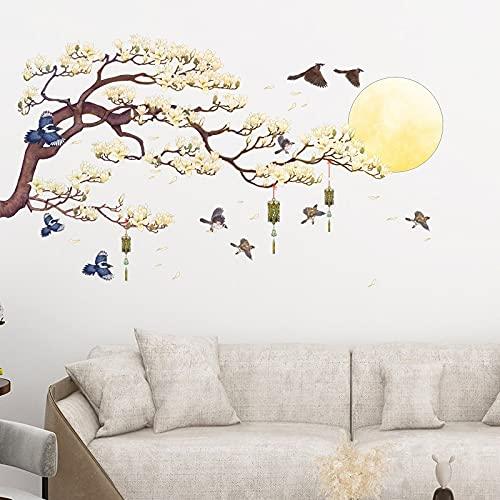 HFDHFH China Puesta de Sol Paisaje Pegatinas de Pared decoración del hogar Tatuajes de Pared Sala de Estar Dormitorio sofá decoración Mural Papel Tapiz Cartel