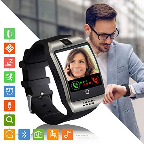 Tipmant Smartwatch Orologio Fitness Uomo Donna Smart Watch Android Touch Screen Orologi con SIM Slot Contapassi Calorie Sport Smartband Fitness Activity Tracker per Samsung Huawei Xiaomi LG (Argento)