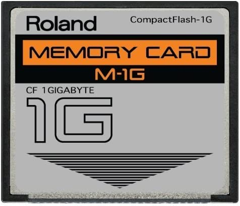 Roland 1GB M-1G CompactFlash CF Memory Card for MC-808, SP-404, SP-555, V-Synth, G-70, TD-20, Fantom and more