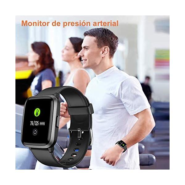 YAMAY Smartwatch con Oxímetro de Pulso Esfigmomanómetro y Pulsómetro Reloj Inteligente Impermeable para Hombre Mujer… 9