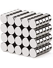 walolo 40 Pack Extra Strong Magnets 6mm X 3mm, Grade N45 Neodymium Magnet for White Board, Fridge, Pin Board and DIY Picture