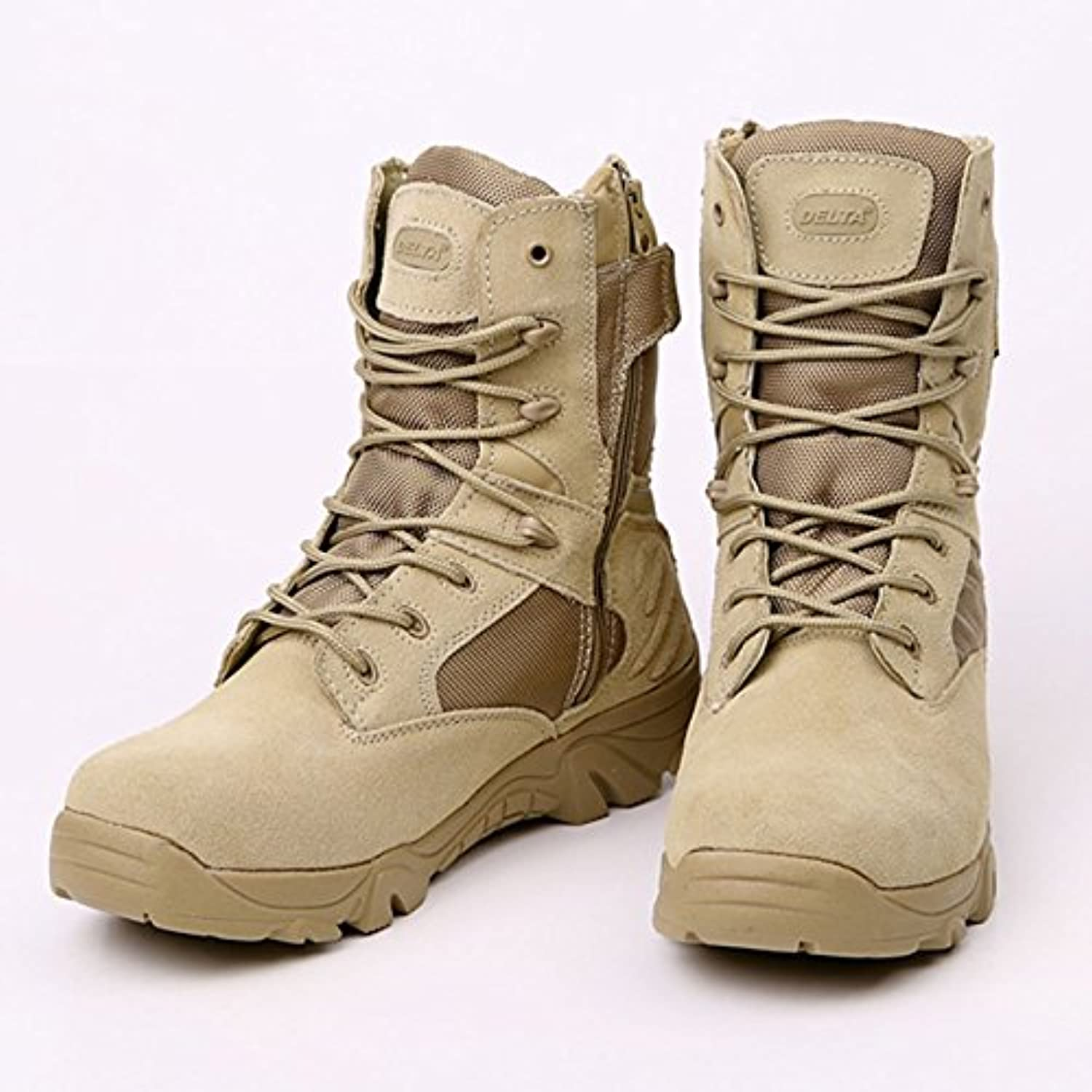Travel Supplies - Army Men Commando Combat Desert Outdoor Hiking Boots Landing Tactical Military shoes - (Size(US)  8, color  Khaki)