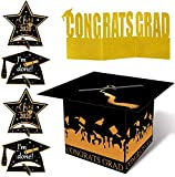 2020 2021 Large Graduation Card Box Centerpiece - Grad Party Supplies Congrats Decorations Holder 13 x 10 Inches(Assemble Needed)