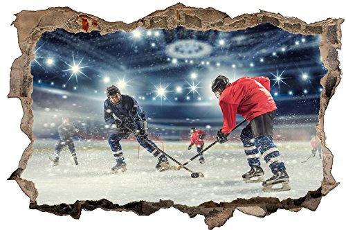 Eishockey Sport Halle Spielfeld Wandtattoo Wandsticker Wandaufkleber D0622 Größe 100 cm x 150 cm