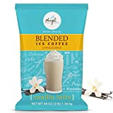 48 oz (3 lb) bag of Vanilla Latte Blended Ice Coffee Mix COST EFFECTIVE: 34 (8 oz) servings of the world's best tasting Vanilla Latte QUICK & EASY: Make perfect Vanilla Latte coffee drinks everytime! Just add water or milk. Serve hot, iced, or as a b...