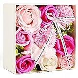 ソープフラワー 創意方形ギフトボックス 母の日 誕生日 記念日 先生の日 バレンタインデー 昇進 転居など最適としてのプレゼント
