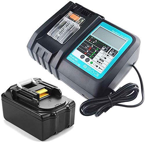 Batería de repuesto para Makita 18 V 3,0 Ah y cargador de repuesto 3 A para Makita DC18RA DC18RC