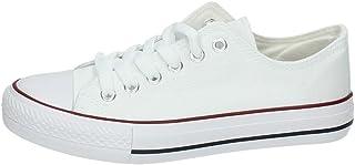 7-A1612A-12 Lonas Blancas Mujer Zapatillas