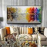 LEPOTN Dipinti a Mano Famosi Dipinti ad Olio su Tela Figure astratte Dipinti Ingresso per la casa di Moda Decorativi Immagini per pareti-60 90cm