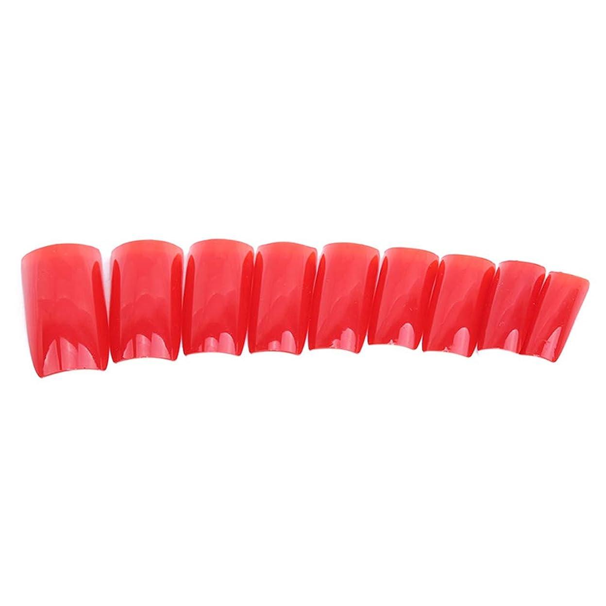 ローラーリスナー立派な火の色 ネイルチップ ネイルケアツール 短い爪 つけ爪 シンプル ネイルアート 結婚式 パーティー 二次会 赤色