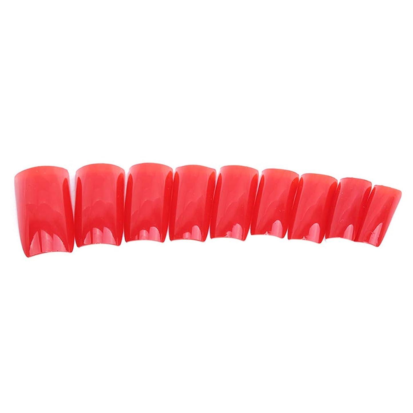 定数夕暮れ委任する火の色 ネイルチップ ネイルケアツール 短い爪 つけ爪 シンプル ネイルアート 結婚式 パーティー 二次会 赤色