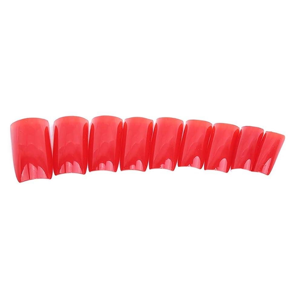 ハードウェアむしろ置換火の色 ネイルチップ ネイルケアツール 短い爪 つけ爪 シンプル ネイルアート 結婚式 パーティー 二次会 赤色