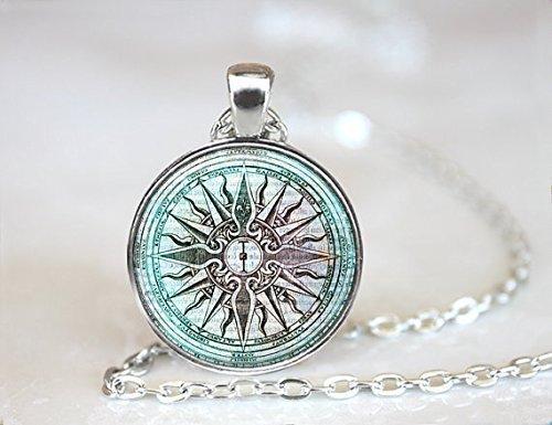 Collar con colgante de la antigua Grecia en forma de mítica griega, collar de la ciudad perdida de Atlantis, joyería de cristal de la mitología griega, collar de regalo