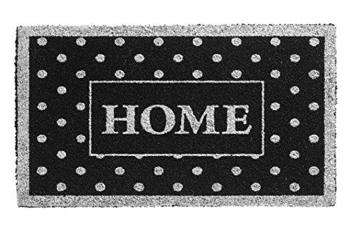 F&S deurmat Ruco Glitter 40 x 70 cm van 100% kokosvezels, natuur, 15 mm dik dessin Home Silver Points.