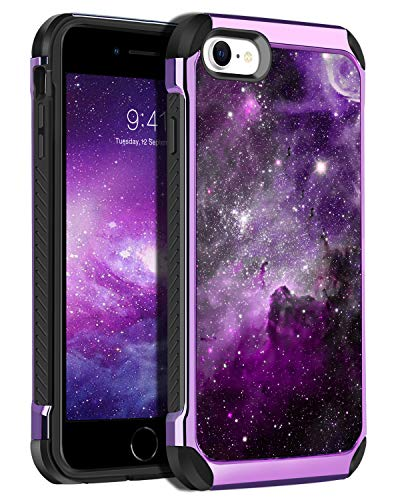 """BENTOBEN iPhone SE 2020 Case, iPhone 8 Case, iPhone 7 Case, Glow in The Dark Dual Layer Hybrid Hard PC Soft TPU Rubber Rugged Anti-Slip Shockproof Protective Cases for iPhone SE 2nd Gen 4.7"""", Nebula"""