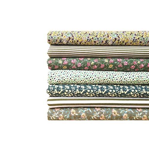 Hanxin 7Pcs Serie Azul Tela De AlgodóN Flor PatróN Floral Material De Costura Textil para Ropa De Cama De Patchwork Bricolaje
