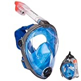 Salvas Full Face Schnorchel Maske Tauchmaske Taucher Brille Vollmaske Vollgesichtsmaske L/XL