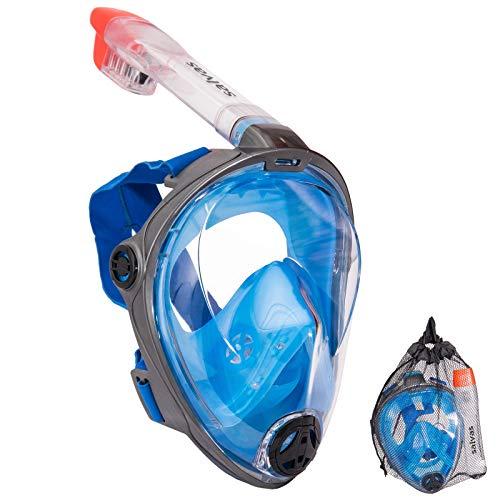 Salvas Full Face snorkelmasker, duikmasker, duikbril, volgelaatsmasker