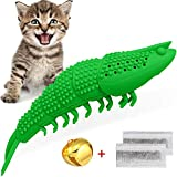 HETOO Cat Catnip Toys,Interactive Cat Toothbrush Chew Toy for Kitten Kitty Cats Teeth Cleaning Dental Care, Crayfish Shape Pet Toy Cat