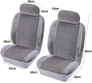 COVER DAMAGED FADED TORN CAR SEATS COVERS GREY FABRIC MATERIAL PAIR PROTECTOR