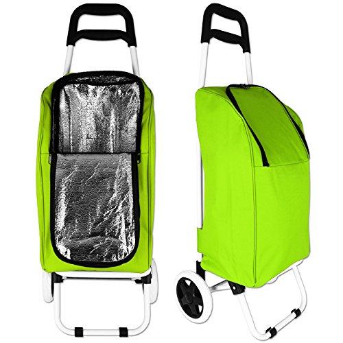 Edco Einkaufstrolley - Einkaufsroller - Kühltasche mit Trolley mit Farbauswahl (grün)