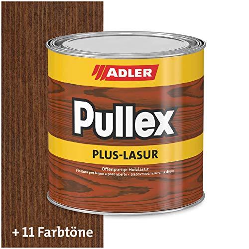 ADLER Pullex Plus-Lasur - Holzlasur Außen Farblos - Universell einsetzbare & aromatenfreie Holzschutzlasur als perfekter UV- & Wetterschutz - 2,5 l Palisander/Braun