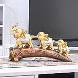 DECORACION FHW Elefante artesanías de Resina Escultura, joyería Creativa Adornos casa Europea de Estar Sala de Blog Armario Bodega Porche Suaves artesanías pequeño Elefante