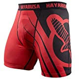 Hayabusa Recast Vale Tudo Compression Shorts - Red/Black, Large