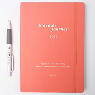 2020 Journal Journey Dated Weekly Planner with AHZOA Pencil, Diary Date is Printed (Pink)