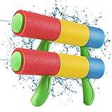 Pistola de Agua, Pistolas de Espuma para Niños, Pistola de Agua de Espuma EVA de 7.5m de Alcance, Piscina Juguetes Niños para Batalla de Agua, Playa, Juego al Aire Libre