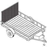 6′ 4' x 10′ Utility Trailer Plans – 3,500 lb Capacity | Trailer Blueprints Model U76-120-35J