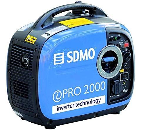 SDMO - Generador inversor portátil PRO 2000 E, más de 10 horas de energía de respaldo con motor Yamaha MZ80, 3 años de garantía y ligero