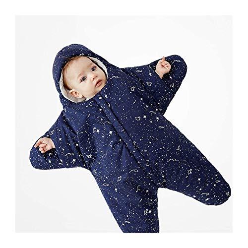 DZHTSWD Winter Baby Sleeping Bag con Las piernas, Ropa de Dormir Suave cálida, 100% algodón Transpirable, Saco de Dormir Todo el año con Mangas/Cremallera, para recién Nacidos a 8 Meses de niños y n