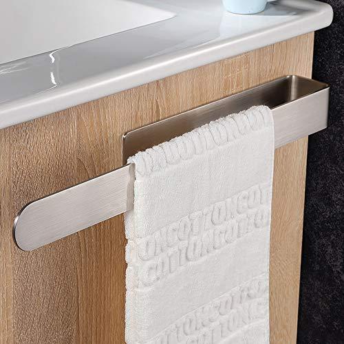 Taozun Handtuchhalter ohne Bohren Handtuchstange Selbstklebend Handtuchring für Badezimmer Küche, Edelstahl Gebürstet 37CM