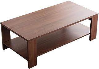 Marque Amazon - Movian Ljungan Table de salle à manger, avec partie supérieure effet noyer, 160x90x75cm