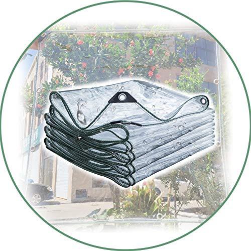 WZNING Klare wasserdichte Plane, 600gsm Hochleistungs-Plane-wasserdichter und reißfester Schutz für Pflanzen Gewächshaus, Haustier-Hutch-Dach Langlebig und schützend...