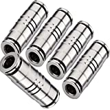 Utah Pneumatic Push To Connect Air Line Fittings 1/4'Od Straight Union Connector Air Fittings Quick Connect Push Lock Fittings Air Bag Fittings Pneumatic Tube Fittings Plated Brass Push (5 Pack)