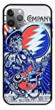 JGTEE Phone Case Compatible with iPhone 12 11 X Xs Xr 8 7 6 6s Plus Mini Pro Max Art Jazz Rock Chicago Ripple Grateful Dead Band Tshirt Mens Logo Pure Clear Cases Cover Full Body