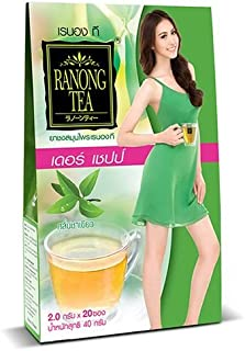 Ranong Tea, Derr Chape, Herbal Infusion Drink, Green Tea Flavour, 40 g [Pack of 1 piece]