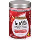 Twinings Cold Infuse Flavored Water Enhancer, Watermelon & Mint, 12 Infusers per pack (Pack of 6)