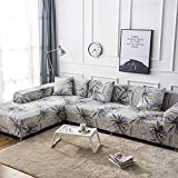 HXPP Sofabezug Ecksofa Spannbezug, Chaise Sofa Cover All-Inclusive-Universal-Nordic-Kissen Four Seasons (Color : R, Size : 2seat+2seat+2seat)