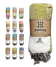 pamuq® Toalla de playa XXL, toalla de sauna, toalla de baño, toalla de hamam, grande, de algodón Oeko-TEX®, toalla de ducha, pestemal, fouta, pareo, yoga, manta de deporte, sarong para hombre y mujer
