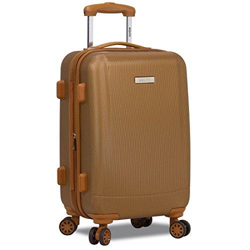 Dejuno Legion Hardside Spinner TSA Combination Lock Carry-on Suitcase, Coffee, 20-Inch