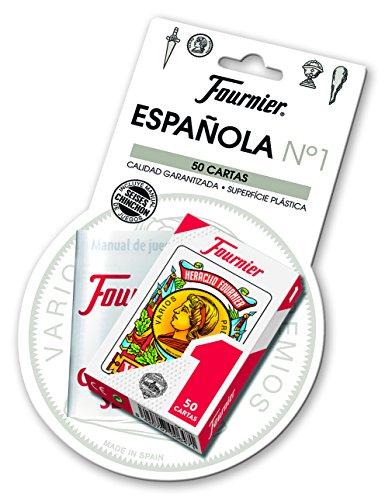 Fournier-Nº1-50 Baraja de Cartas Española + Reglamento Seises y Chinchón Multicolor (F24787...