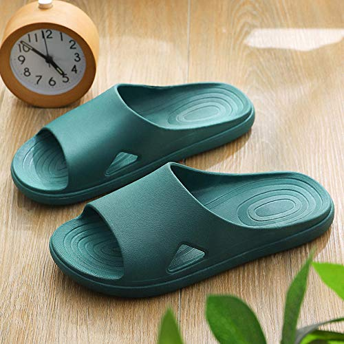 QPPQ Zapatillas de baño junto a la piscina, zapatillas antideslizantes para el hogar, sandalias cómodas de baño, Ink_5.5-6, zapatillas de baño para interiores y exteriores