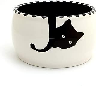 Black Cat Knitting Yarn Bowl