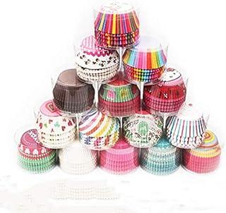 Frmarche 100pcs Moldes de Papel paraTartas Cupcakes