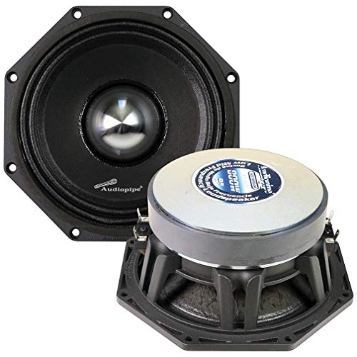 "AUDIOPIPEMAP Audiopipe 8"" Octagon Speaker 800 Watts Max/400 Watts RMS Dual 4 Ohm"