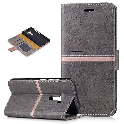 Kompatibel mit Asus Zenfone 3 Hülle,PU Lederhülle Flip Hülle im Bookstyle Ständer Wallet Soft Silikon Magnetverschluss Kunstleder Hülle Tasche Tasche Schutzhülle für ASUS ZenFone 3 (ZE552KL) 5.5